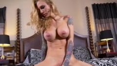 Hot Tattooed MILF Sarah Jessie Uses A Rubber Toy On Her Wet Pussy