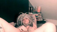 TGirls Goth Pierced Cutey Showing Of Her Tattooed Body (FAN REQUEST)