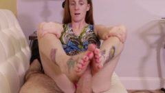 LUBE YOUR FEET WITH TONGUE – GODDESS FOOTJOBS – GINGER BABBI