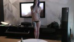 Sensuous Hot Tattoo Slut Raquel Hungry Strip Tease And Wild Masturbation