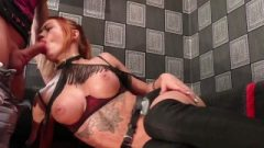 Tatted Female Suck Huge Cock Muscular Man And Hard Sex After Watching Porn