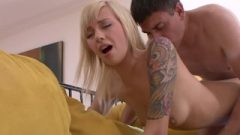 Adorable Perfect Fair-haired Nubile Filled Her Tight Twat With Loads Of Spunk