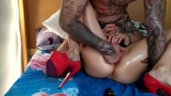 Super Seductive Bimbo Doll Filthy Fisted And Squirtin With Anal Wreckage