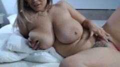 Romanian Chubby Mature Playing Her Tattoo Fanny On Bed